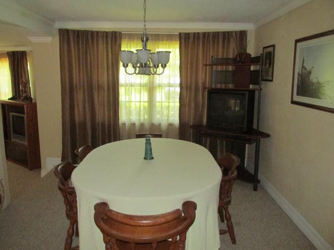 This Dining Room Gave Me The Heebyjeebies When We Moved In. The Same Nappy  Carpet That Was In The Living Room But Maybe More Stained.